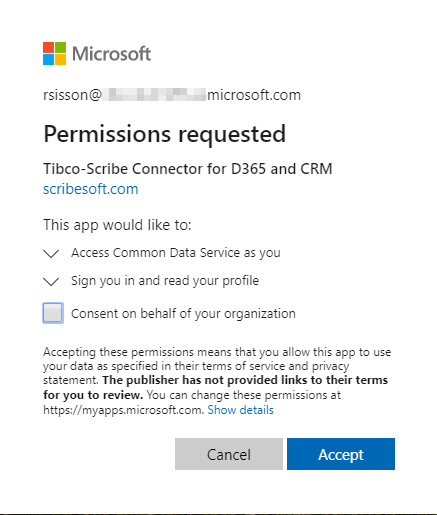 TIBCO Scribe® Online Connector For Microsoft Common Data Service (CDS)
